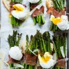 Prosciutto Wrapped Asparagus with Poached Eggs