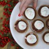 Brownie Cupcakes with Candy Cane Buttercream