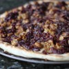 Caramelized Onion, Sausage and Manchego Pizza