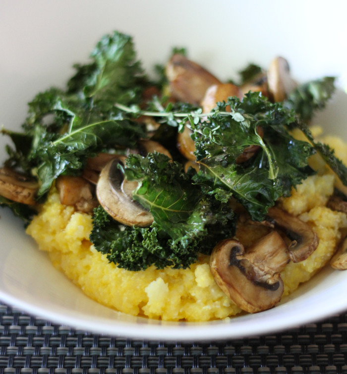 Creamy Polenta Bowl with Mushrooms and Crispy Kale – Laundry In ...