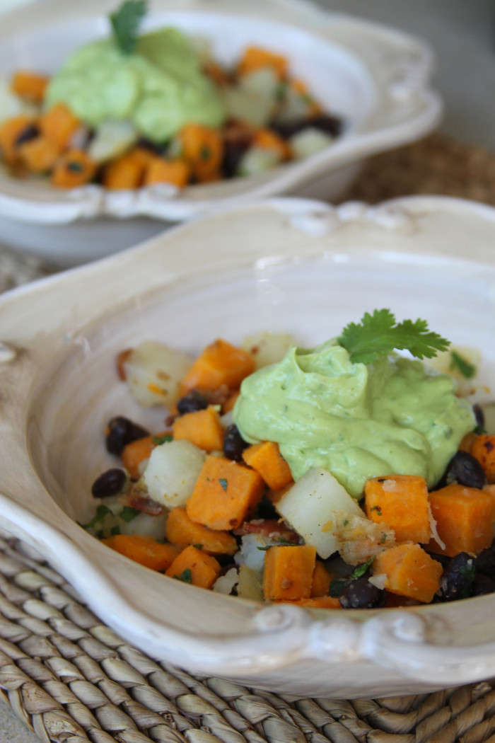 Paleo Sweet Potato Hash with Avocado Cream – Laundry In Louboutins